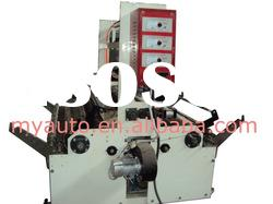 Double winder with air blower and edge cutter for standard film blowing machine