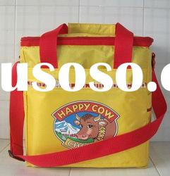 Factory yellow cooler bag with 420D/PVC+1.4cm foam