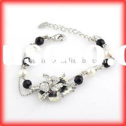 Fashionable alloy Bracelet, Made of Zinc Alloy and enamel