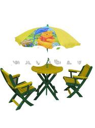 Garden Kids Table and Chair with Umbrella