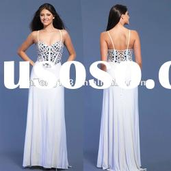 Graceful Spaghetti Strap Sequins Evening Gown