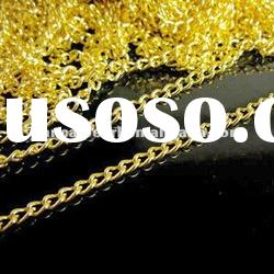 HOT!!Wholesale!! 3% OFF!!gold plated snake necklace chains for DIY accessory for men or women!!