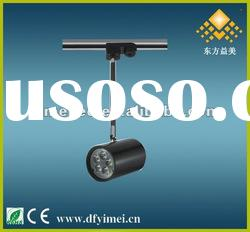 High efficiency LED track light with 5W high power, black apperance