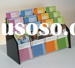 High quality clear acrylic brochure stand with several compartments