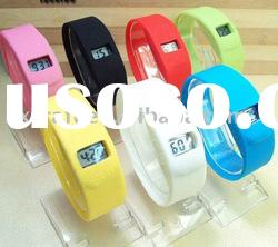 High quality waterproof colorful silicon ion sport watch