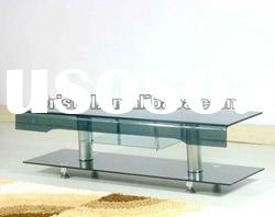 Hot bending glass TV table/stand 2,living room furniture