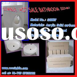 Hot sale modified artificial stone cabinet bathroom sink with competitive factory wholesale price