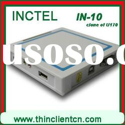 IN-10 (Ncomputing U170) thin client network with mic, webcam,printer,scanner,usb, HDD youtube video