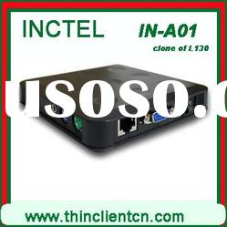 IN-10 (Ncomputing U170) think client with mic, webcam,printer,scanner,usb, HDD youtube video
