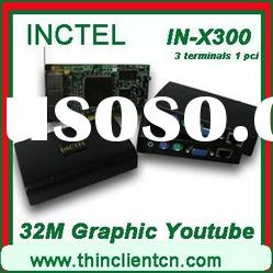 IN-X300 virtual desktop with extenda PCI multi windows users to 7 computers from one system