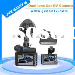 JVE-3327F-8 5.0 mega pixel Dual-lens hd car dvr camera;car recorder hd camera;hd car camcorder