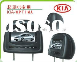 KIA Car Headrest TFT Monitor with MP3,MP4 player and sd card reader for KIA- K5 dvd and audio