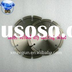 Laser welded diamond saw blade for concrete