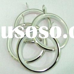 MR-003 35mm Nickel curtain ring plastic-Iron curtain rod ring