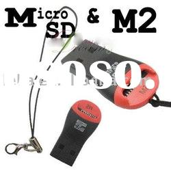Micro sd card reader and M2 card reader 2 in 1