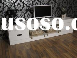 Modern TV Stand (White High Gloss MDF) S560#