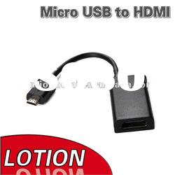 New Black MHL Adapter Micro USB to HDMI Cable Black For Samsung Galaxy S2 i9100