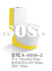 One-piece Colorful Ceramic Toilet A-8058-2