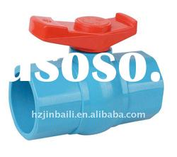 PVC Valves/ Din Standard Luxury Handle PVC Octagonal Ball Valve