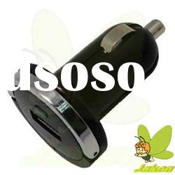 Popular Black Mini Pull Ring Car Charger For Mobile Phone