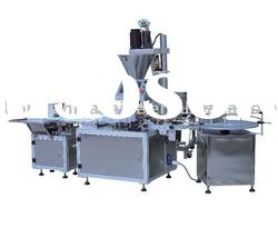 Powder filling machine for can