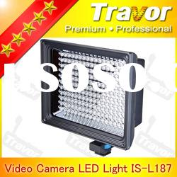 Professional IS-L187 With 187pcs LED round led panel video light