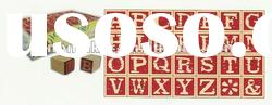 Promotional Gift Card Making Wooden Alphabet Stamps Set