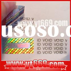 Security tear off tamper proof hologram composition label