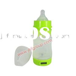 Silicone baby feeding bottle with LCD dislay