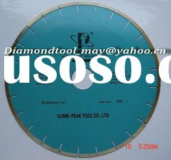 Silver welded diamond saw blade for granite marble cutting