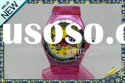 Spain amorous feelings Alloy case silicone watch
