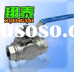 Stainless Steel Tee Ball Valve ,Reducer Bore, SS304 SS316, Three way Ball Valve