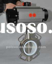 Stainless steel pneumatic butterfly valve(wafer)