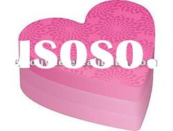 Sticky memo pad,heart shape note pad