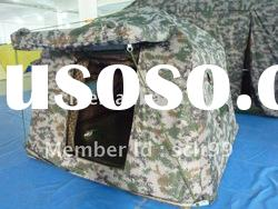 Structural inflatable army tent for 2 person