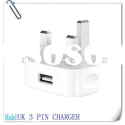 UK Standard 3-PIN connector For Adapter Mains Charger of Apple products
