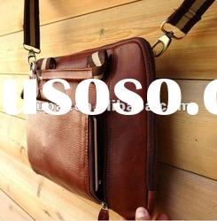 Vintage Leather Shoulder Bag Messenger Notebook hand Business man bag