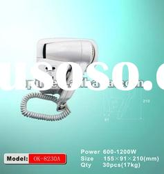 Wall mounted hotel hair dryer/mini hair drierOK-8230A