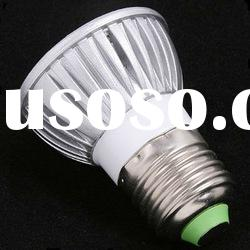 Warm White 3x 1W E27 220V Ultra bright 3 LED Lamp Bulb Spotlight