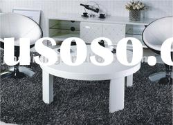 White High Gloss Round Coffee Table, S342#