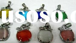 Wholesale 2012 Newest Opal Pendant with Crystal / Fire Opal Jewelry Fire Opal pendant A