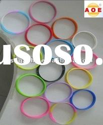 Wholesale PVC Silicone Bracelet / hot silicone magnetic bracelets with custom logo