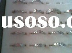 Wholesale glass rings with zircon