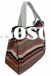 (XHF-LADY-105) fashion canvas lady tote bag