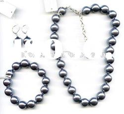 black shell pearl necklace set freshwater pearl necklace set