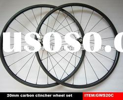 carbon road bike wheels 700C clincher 20mm wheel set