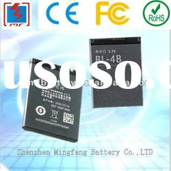 cellphone battery for Nokia BL-4B high capacity and OEM welcomed