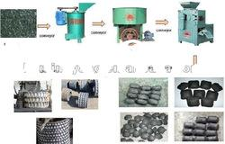 charcoal dust/powder briquettes machine
