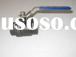 china high quality 2pc screwed stainless steel ball valve