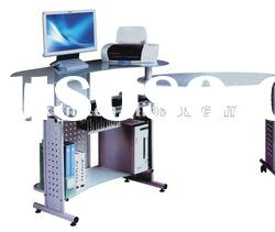commercial furniture of modern ergonomic design glass computer table/ desk